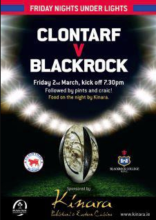 Clontarf Vs Blackrock - Floodlit Rugby