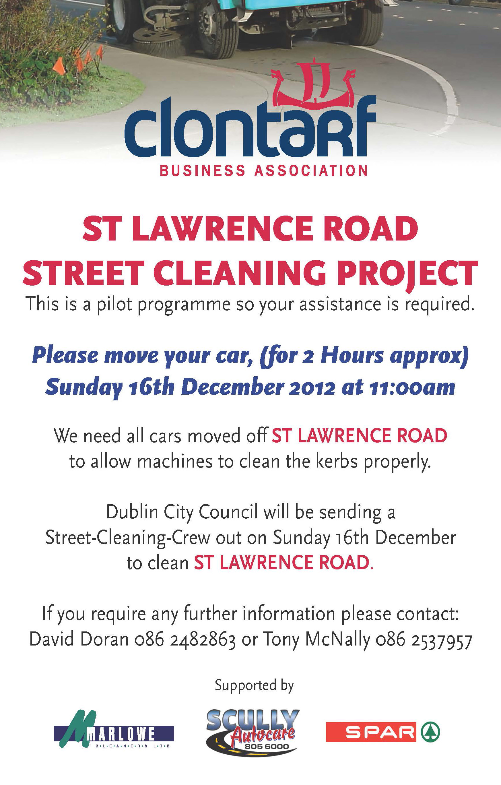 St. Lawrence Road Street Cleaning Project