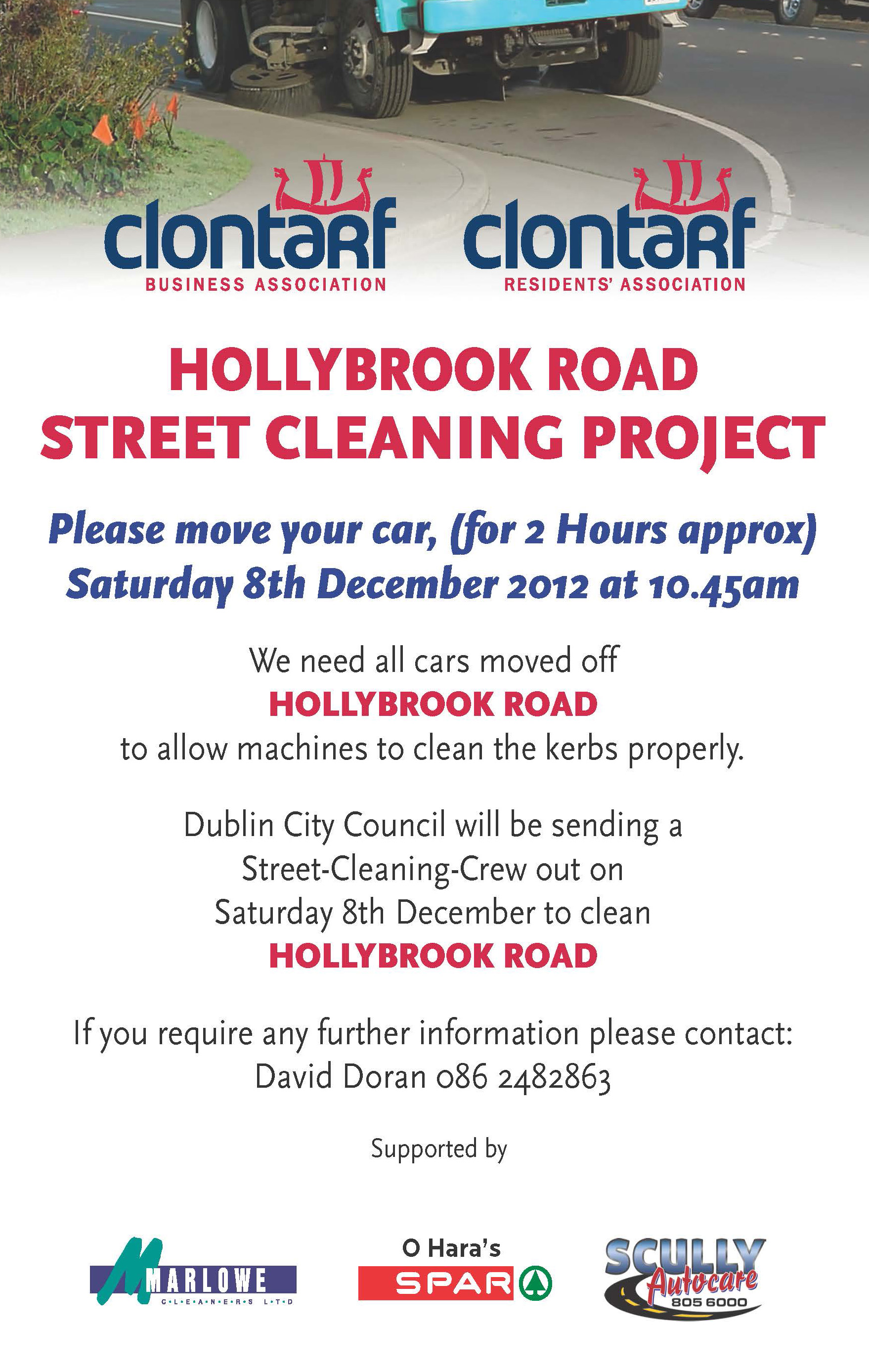 Hollybrook Road Street Clean Up announcement
