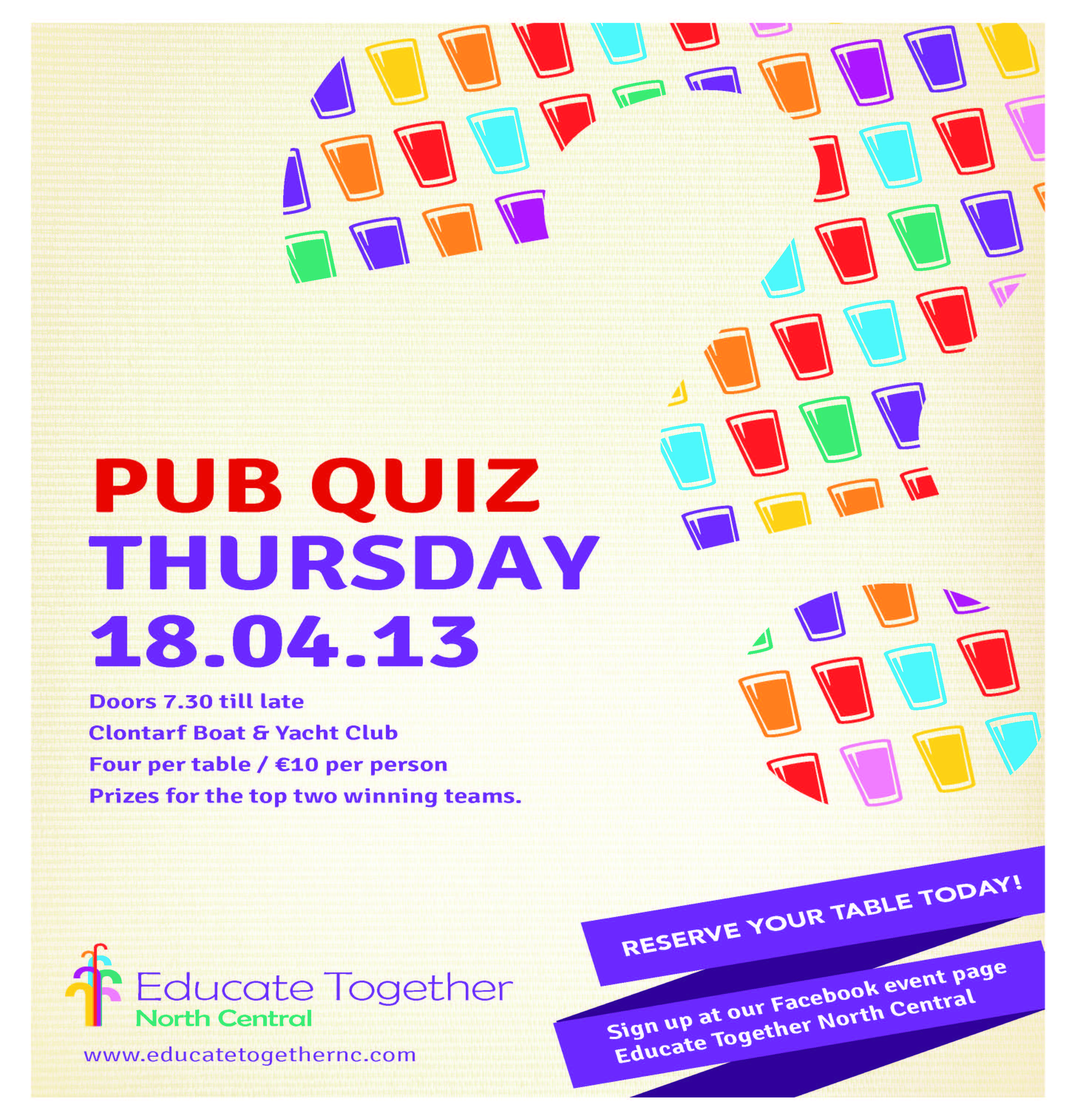 Educate Together North Central pub quiz