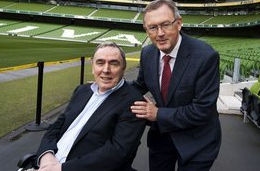 RTE's Colm Murray pictured with Sean O'Rourke