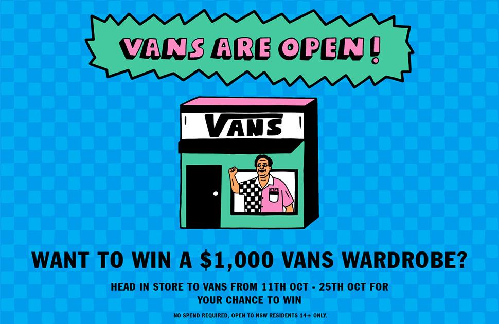 Want to WIN a $1000 Vans Wardrobe?