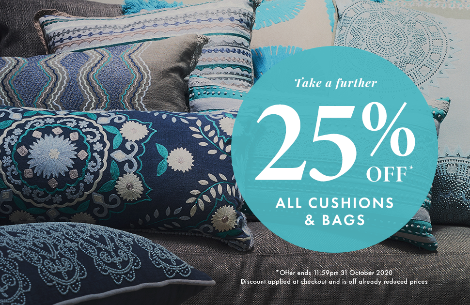 Further 25% off All Cushions & Bags at Trove Emporium