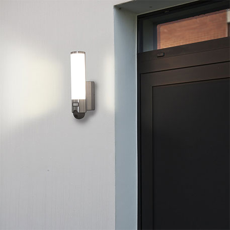 smart outdoor wall light