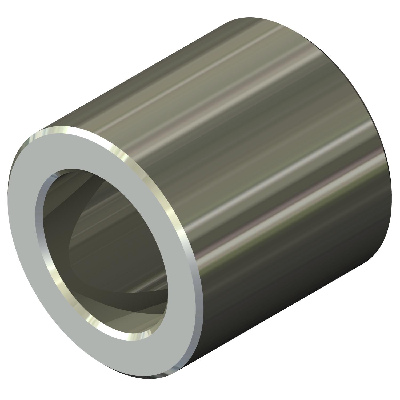 0.312 OD Female Lyn-Tron Zinc Plated Steel 2.5 Length, Pack of 5 8-32 Screw Size