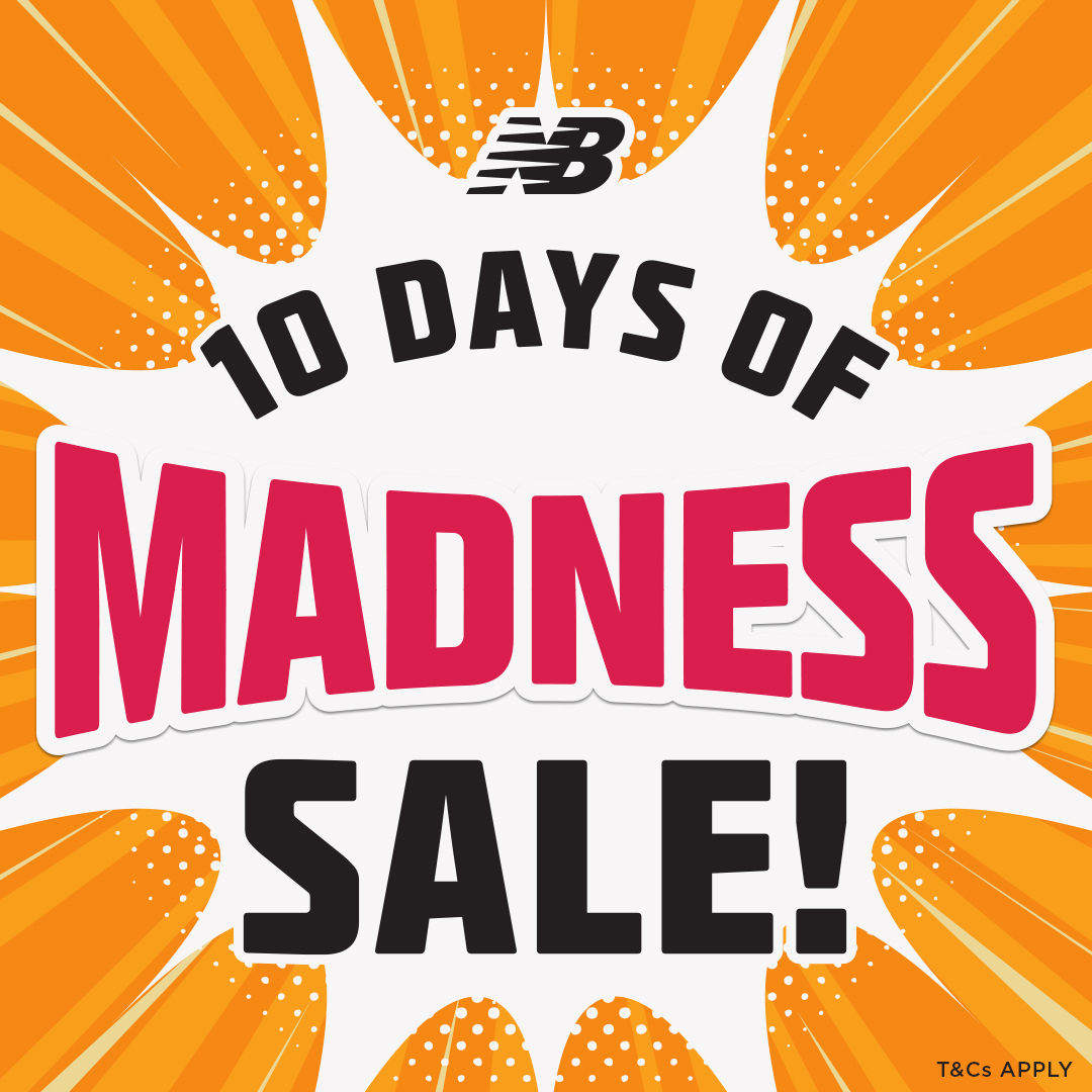 New Balance 10 DAYS OF MADNESS! Sale on now!
