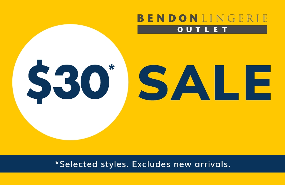 The famous $30 Bra sale is on NOW at Bendon!