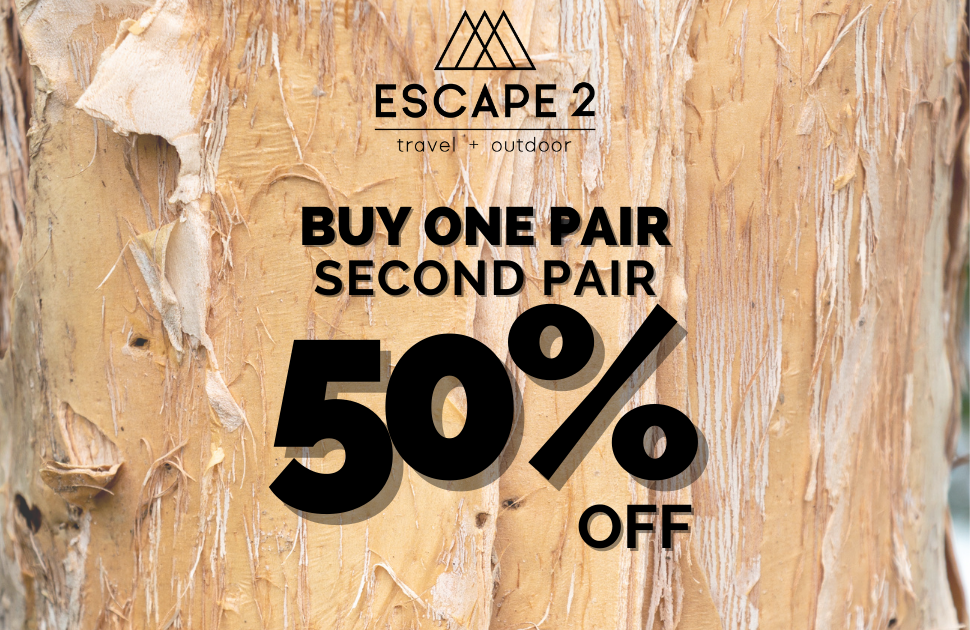 Buy one pair, second pair 50% off!