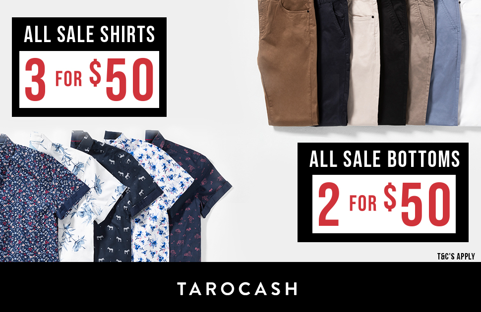 Tarocash's Shirts and Bottoms Sale