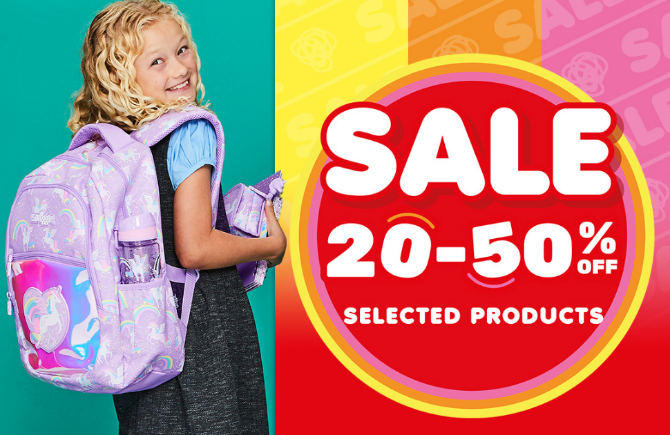 Spring into 20-50% off at Smiggle