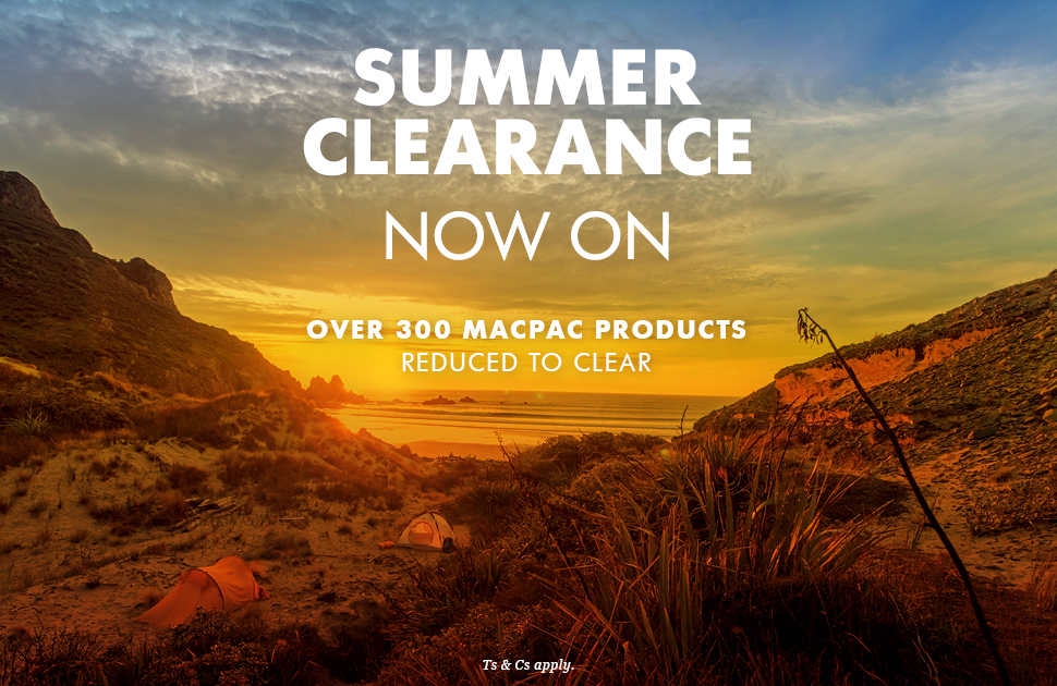 Macpac: Summer Clearance now on