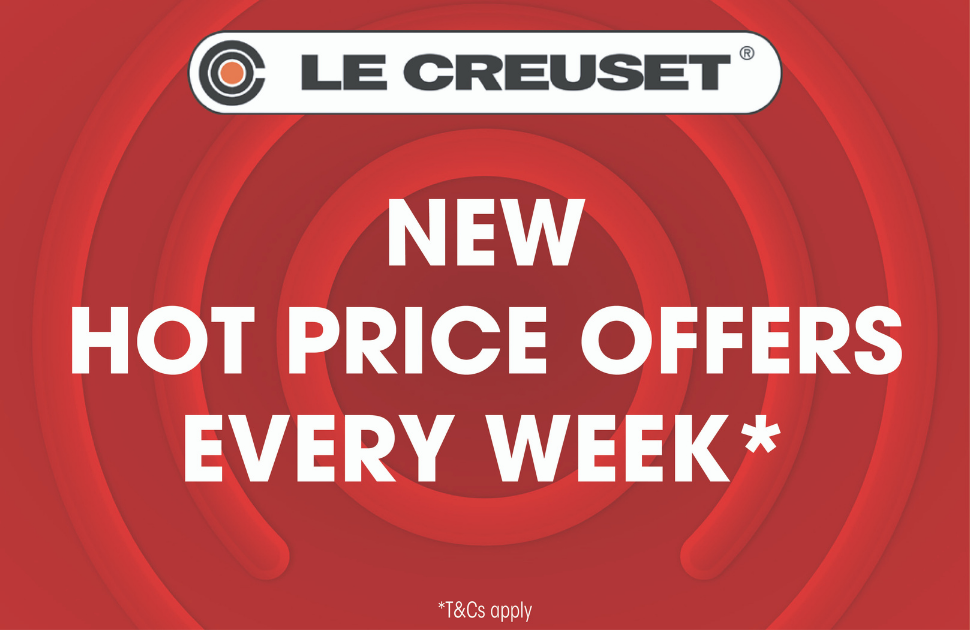Hot Price Offers every week at Le Creuset