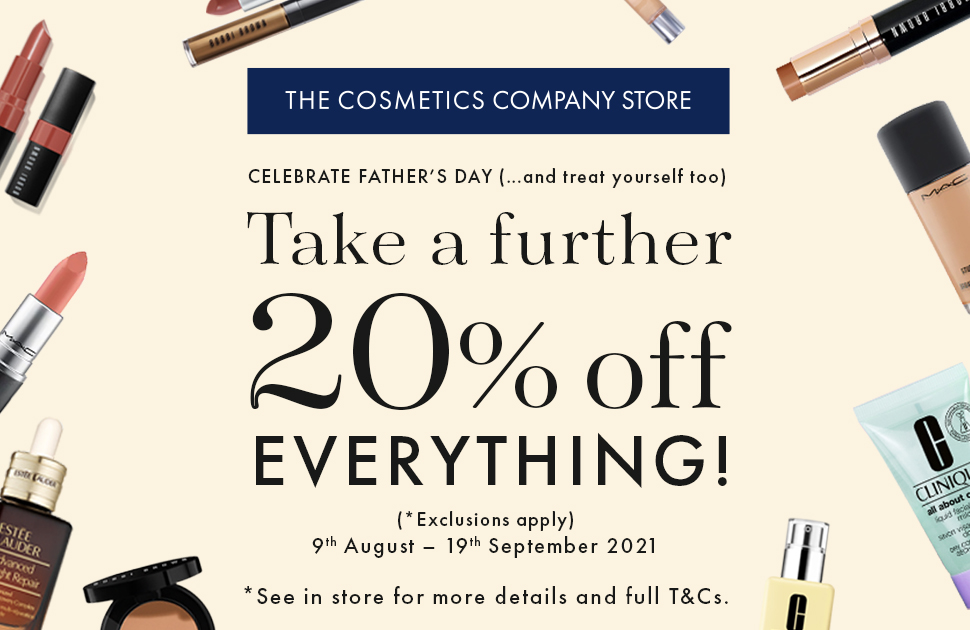 The Cosmetic Company store says treat yourself!