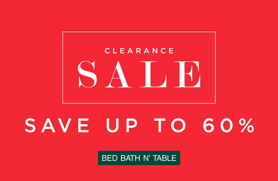 Bed Bath N' Table's Summer Clearance Sale