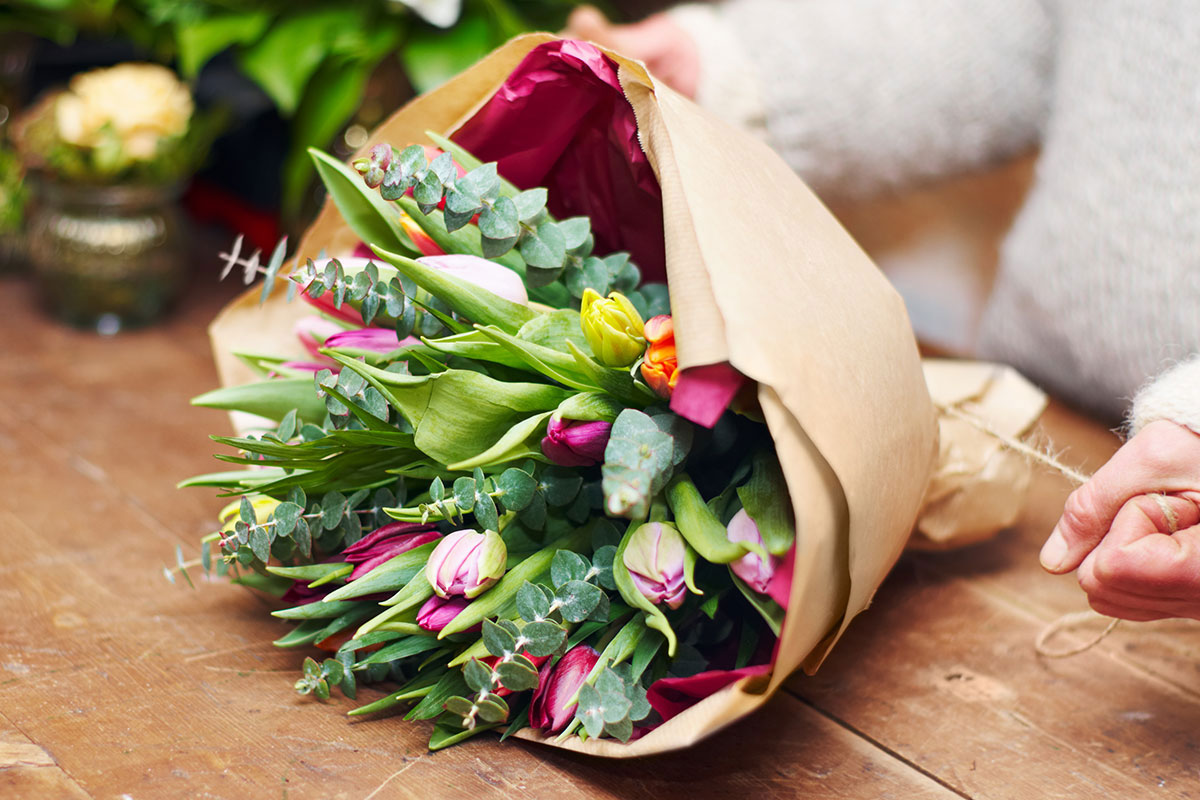 Gift bouquet of flowers