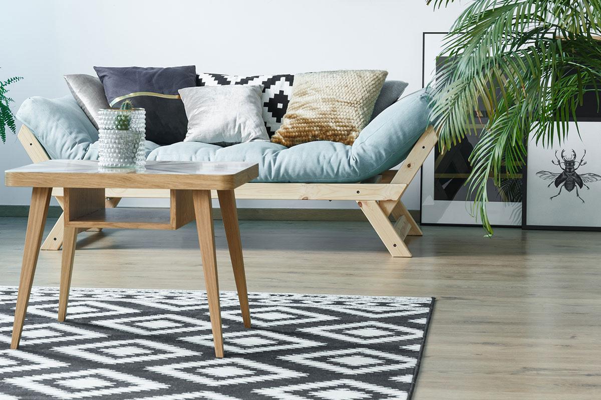 Homeware sofa and coffee table