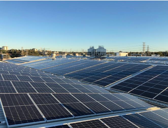 DFO Homebush Solar Panels