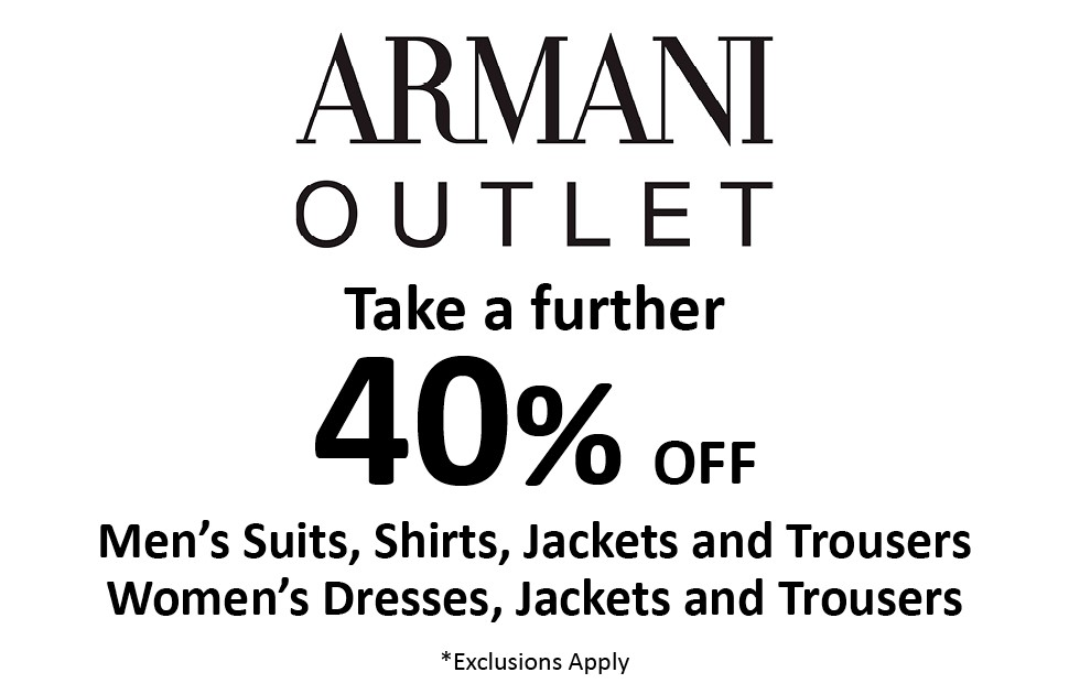 Armani 40% Off Sale