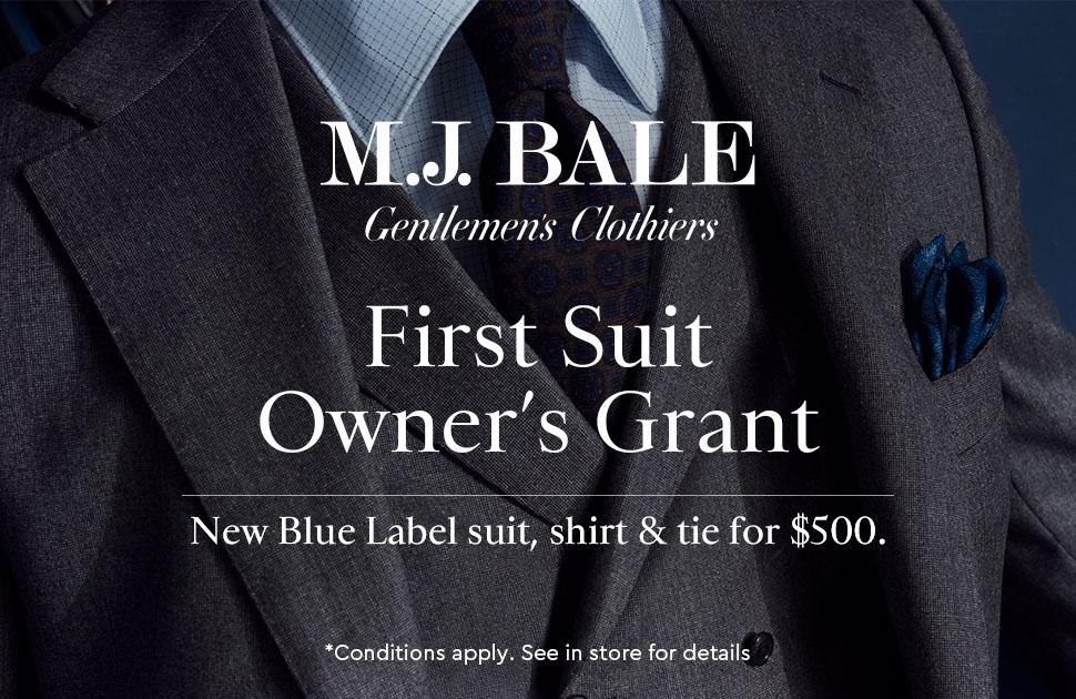 MJ Bale Blue label Suit Offer