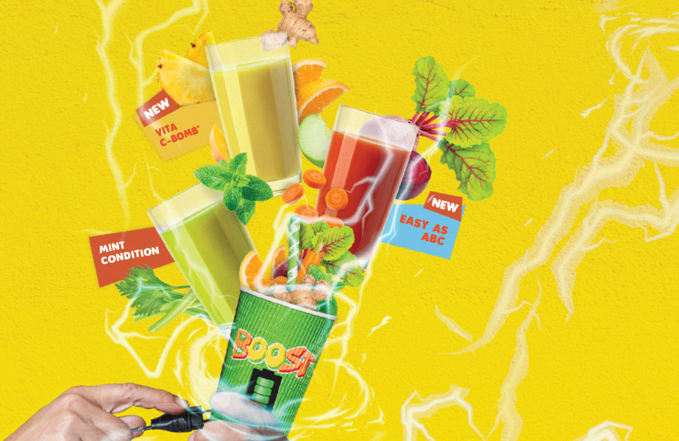 Get fully charged with a Boost Juice