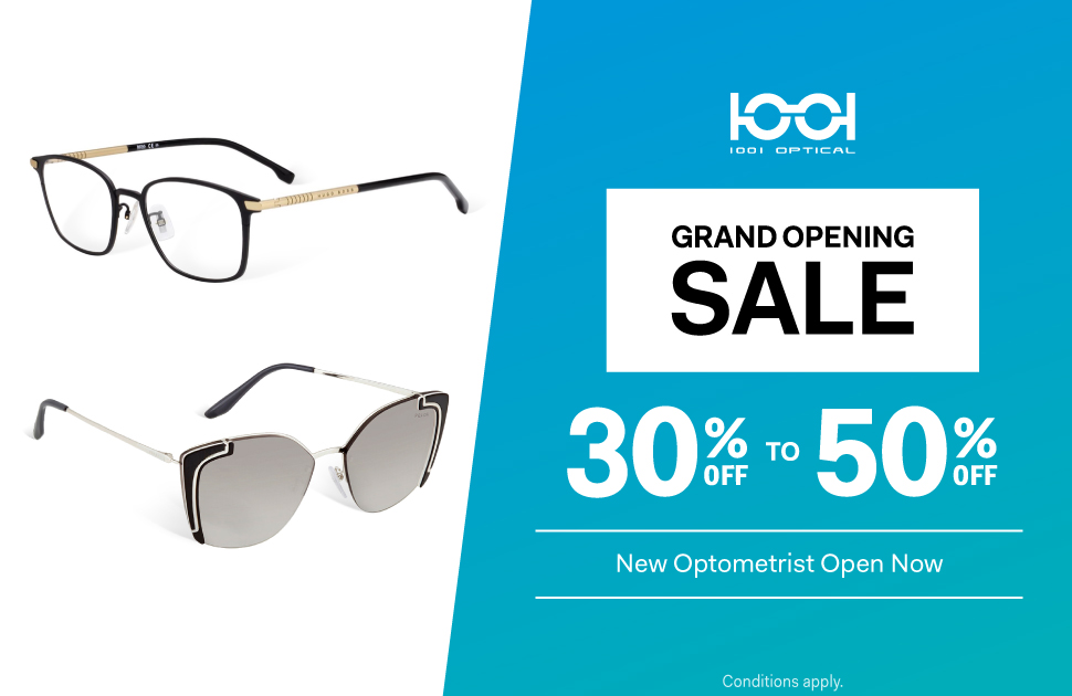 Grand Opening Sale on Frames and Sunglasses