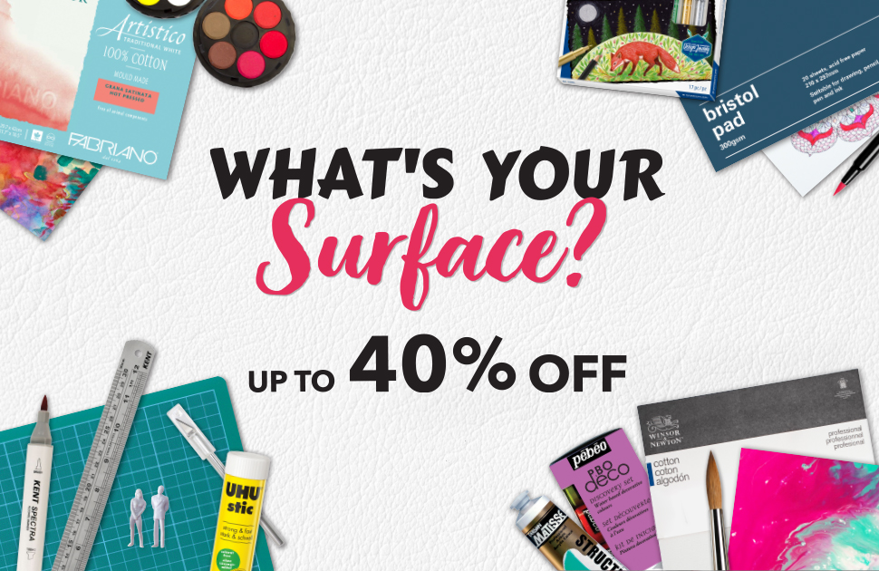 Eckersley's Art & Craft: What's your surface?
