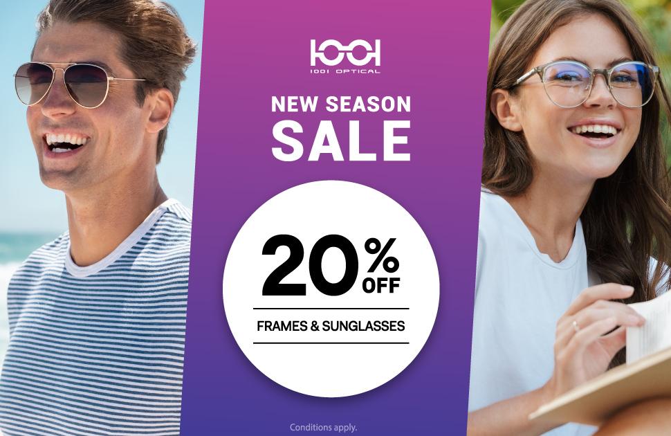 1001 Optical: 20% off Storewide