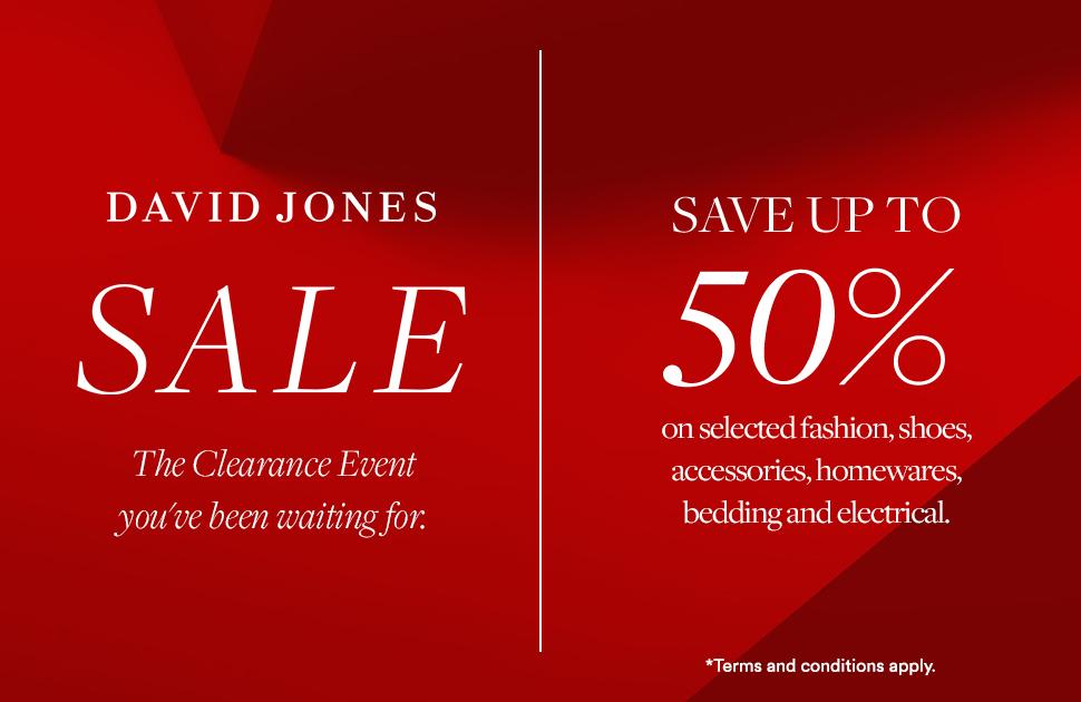 David Jones Clearance Sale