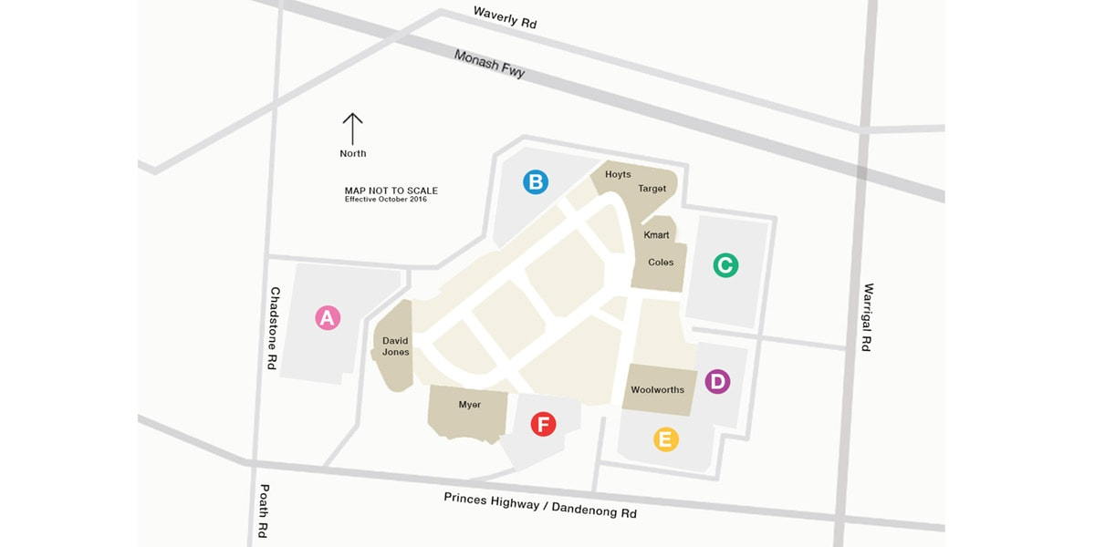 Chadstone Car Park Map