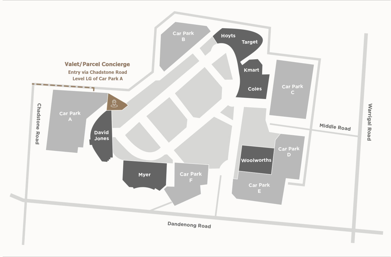 Parcel Concierge Map