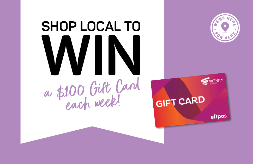 Shop to local to Win gift card $100