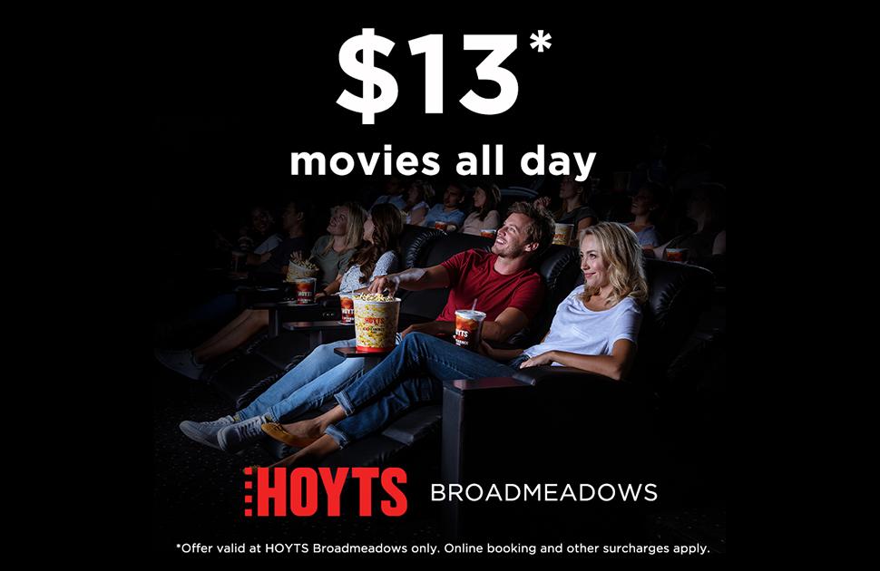$13* Hoyts Movie Tickets