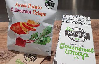 Free packet of crisps at LeWrap