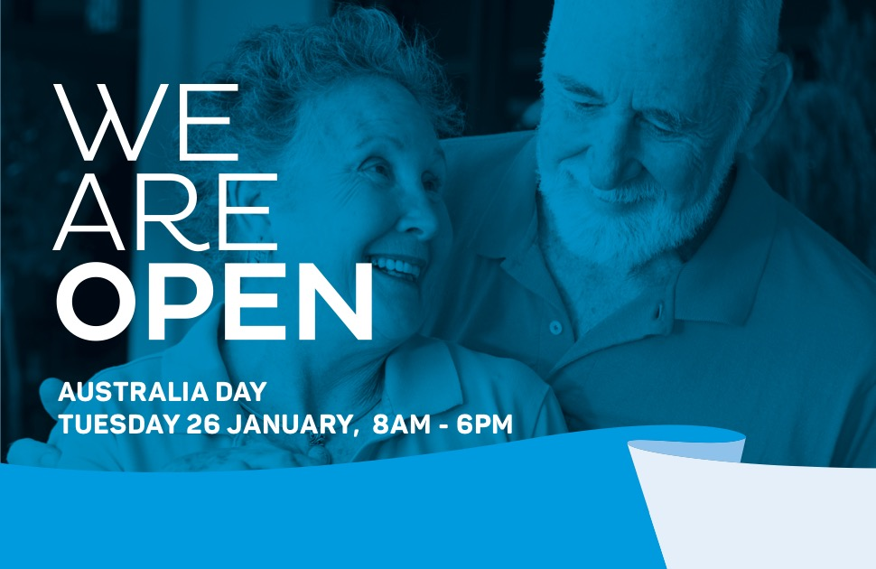 We're open this Australia Day!