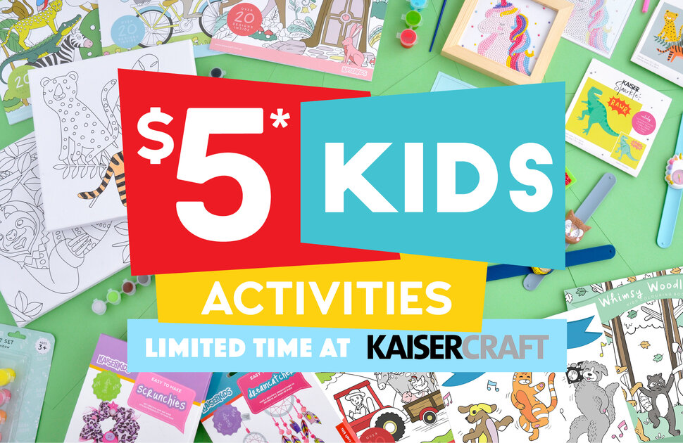 Kaisercraft's $5 Kids Activities