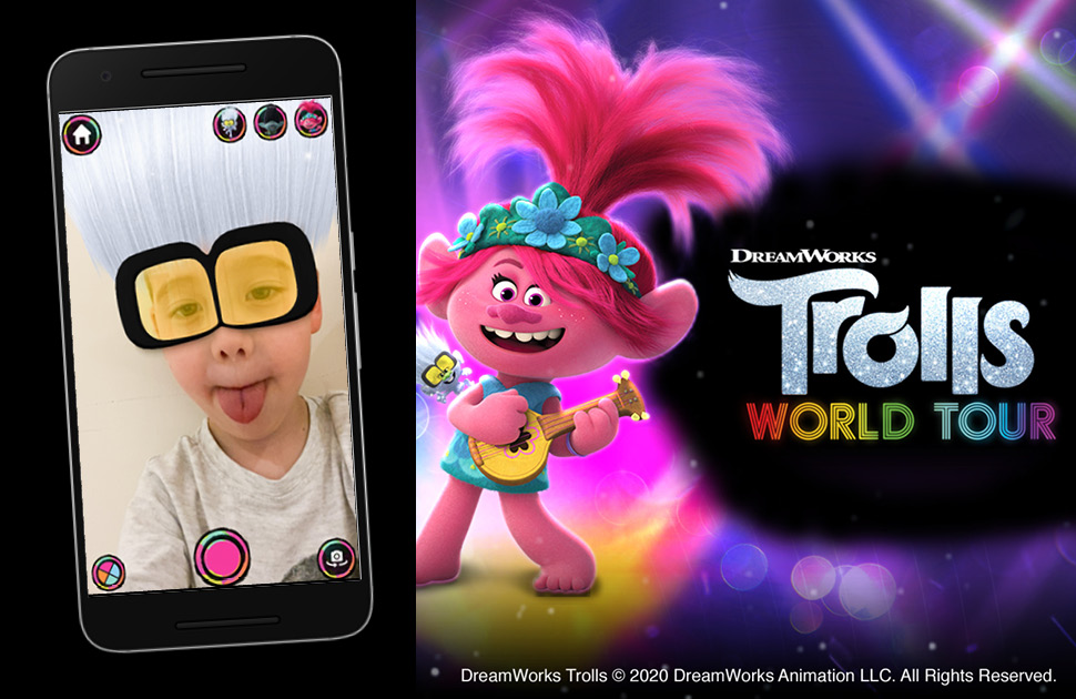 Try our exclusive DreamWorks Trolls World Tour hair filter and WIN!