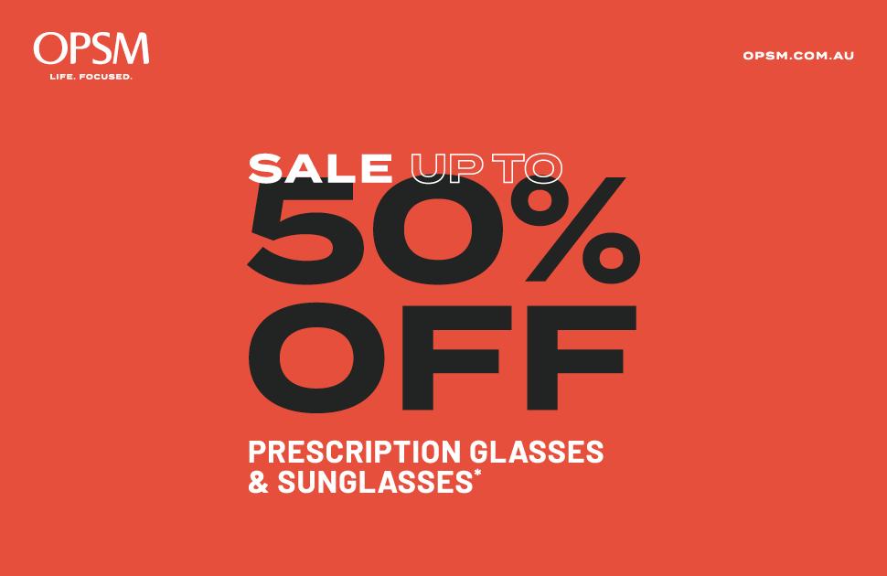 OPSM's Prescription Glasses & Sunglasses Sale