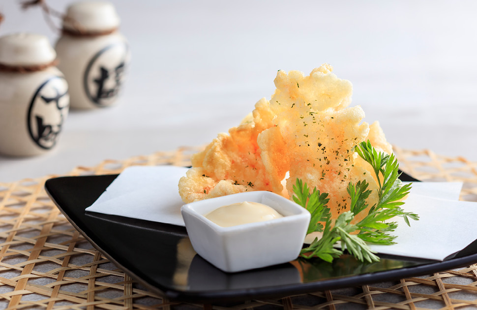 Prawn Nori Cracker with Yuzu Mayonnaise