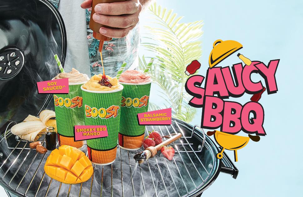 Boost Juice's Saucy BBQ Range