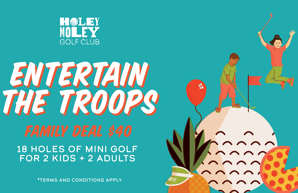 Holey Moley school holidays Family deal