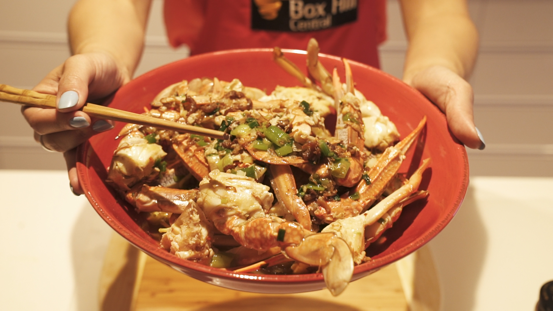 XO Stir-fry Crabs with Egg Noodles