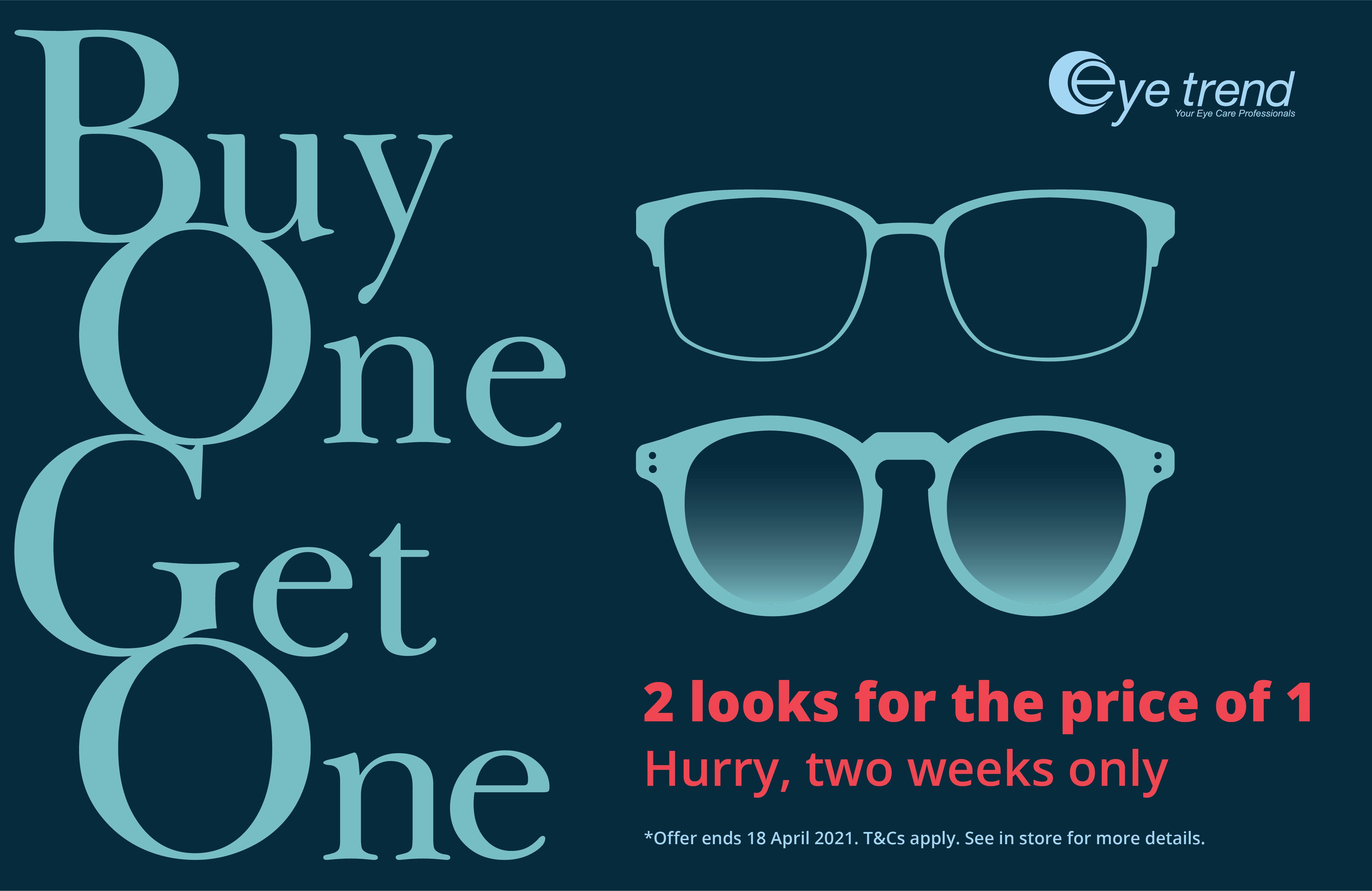 Don't miss Eye Trend's BOGO Sale