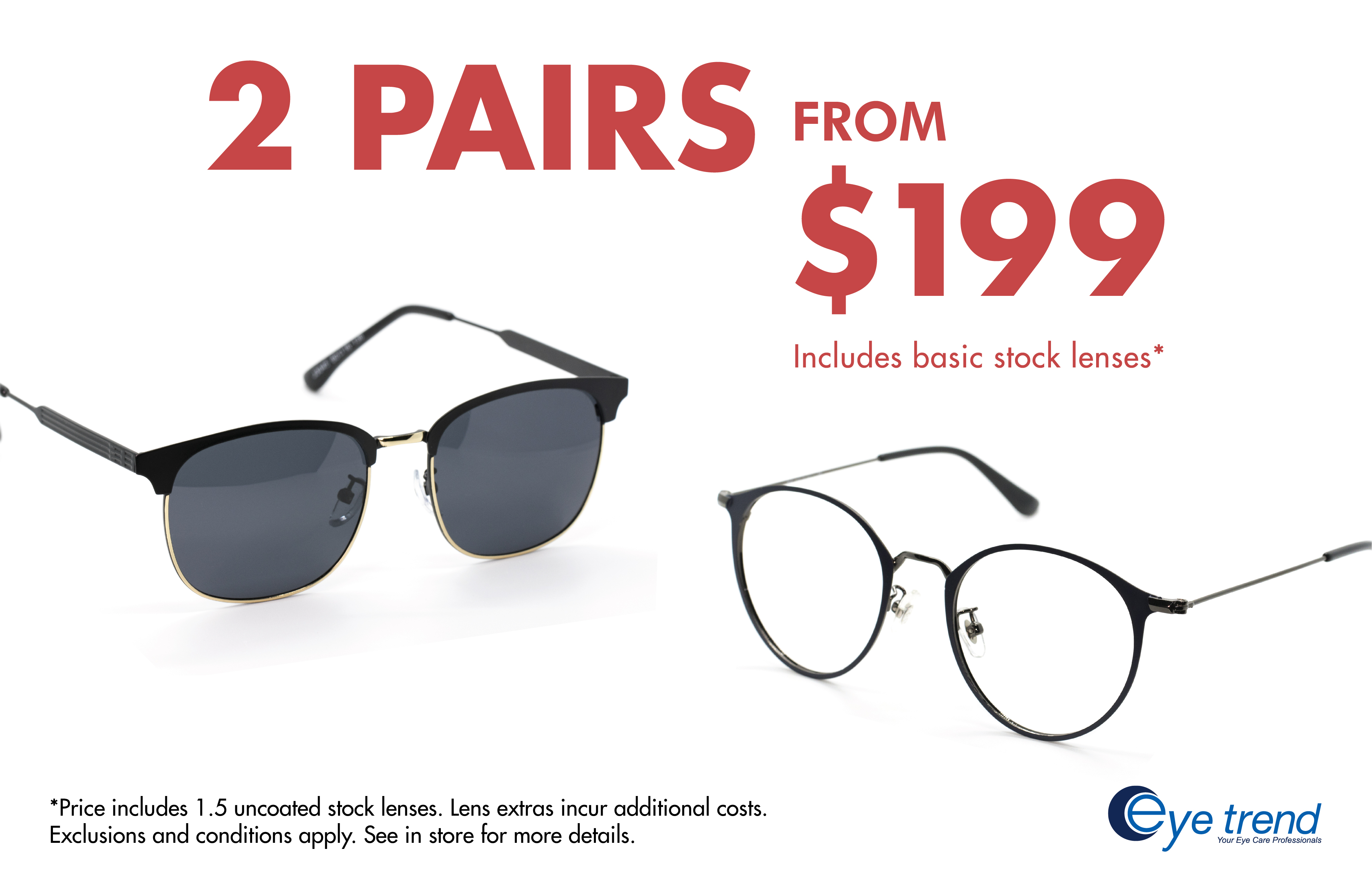 Eye Trend's 2 Pairs From $199 Offer