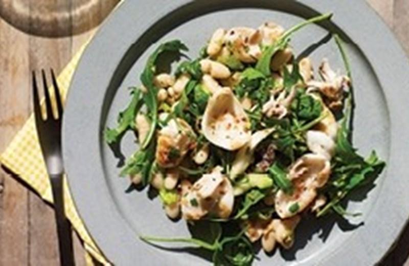Calamari and cannellini bean salad