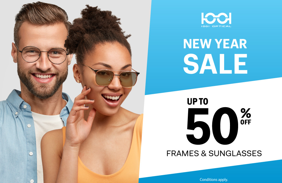 Don't miss 1001 Optical's New Year Sale