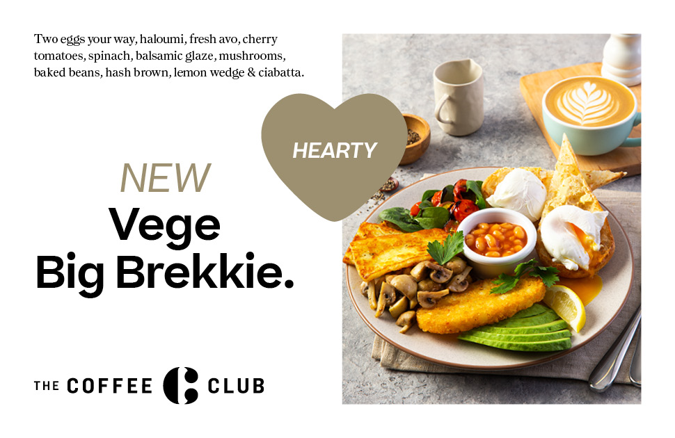 Go Green with The Coffee Club's NEW Menu
