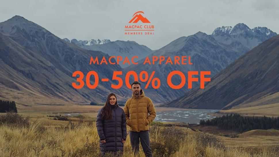 Macpac Apparel Sale