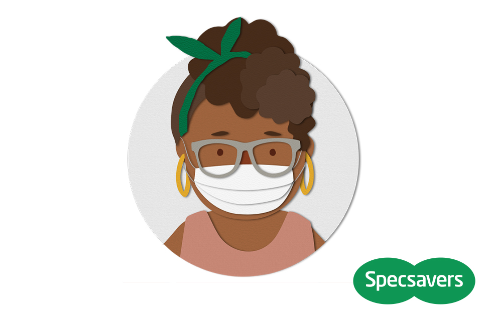 Specsavers' top tips for fitting your face mask with glasses