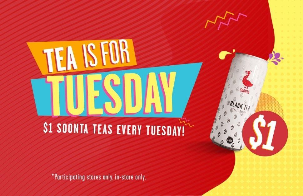 $1 Tea Tuesdays