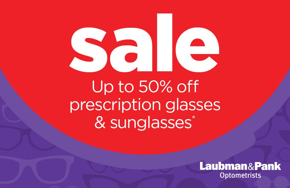 Laubman & Pank's Prescription Glasses and Sunglasses Sale
